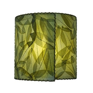 wrapped green sconce