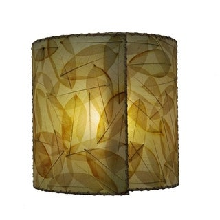 Natural Fiber Shade over Metal frame Wall Sconce, Handmade in Philippines