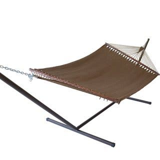 Jumbo Caribbean Hammock and Metal Tri-beam Stand Set|https://ak1.ostkcdn.com/images/products/10538725/P17619883.jpg?impolicy=medium