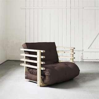 Fresh Futon Funk Chair, Natural Frame