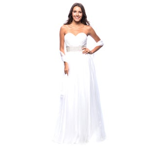 DFI Women's Long Strapless Sweetheart Bust Gown