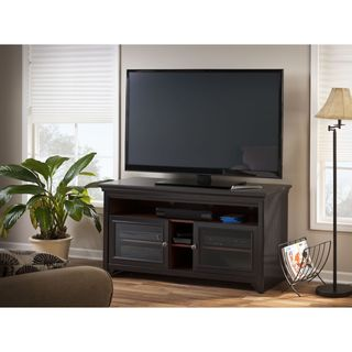 Bush Stanford Antique Black TV Stand, 60-inch