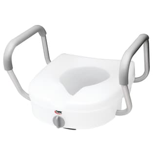 Carex E-Z Lock Raised Toilet Seat with Armrests