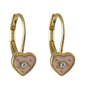 Luxiro Gold Finish Children's Crystal Enamel Heart Leverback Earrings|https://ak1.ostkcdn.com/images/products/10538760/P17619905.jpg?impolicy=medium