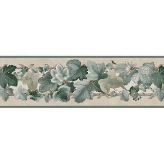 Green Ivy Wallpaper Border