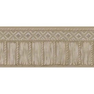 Taupe Tribal Rope Wallpaper Border
