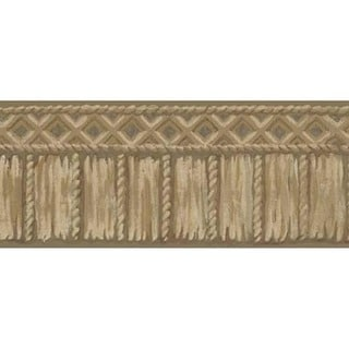 Brown Tribal Rope Wallpaper Border