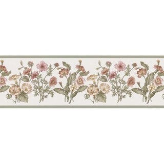 Sage Garden Bouquet Wallpaper Border