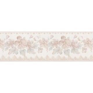 Light Pink Floral Trail Wallpaper Border