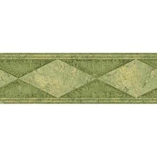 Green Diamond Wallpaper Border