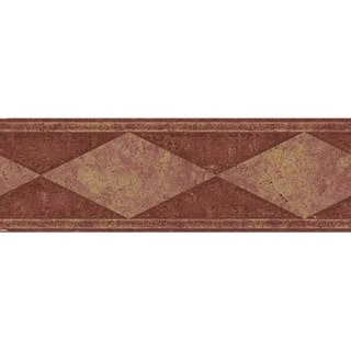 Maroon Diamond Wallpaper Border