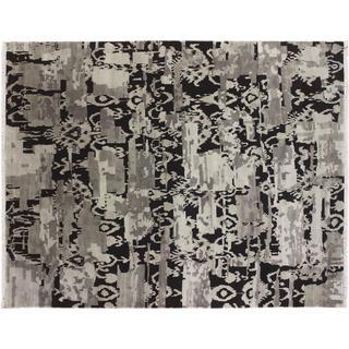 Oushak Akbar Grey Hand-knotted Rug (7'8 x 9'9)