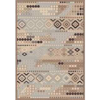 Couture Grey Faded Wallpaper Area Rug (2' x 3'5)
