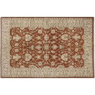 Peshawar Shirinada Rust Hand-knotted Rug (5'7 x 8'6)