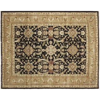Peshawar Mirza Black Hand-knotted Rug (9'2 x 11'8)