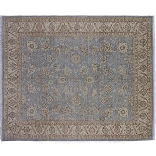 Peshawar Mahdokht Blue Hand-knotted Rug (7'11 x 10'1)
