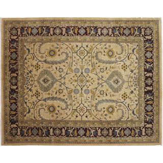 Istanbul Nabil Gold Hand-knotted Rug (9'0 x 11'8)
