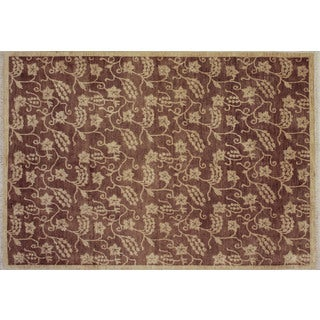 Peshawar Anass Brown Hand-knotted Rug (6'2 x 8'9)