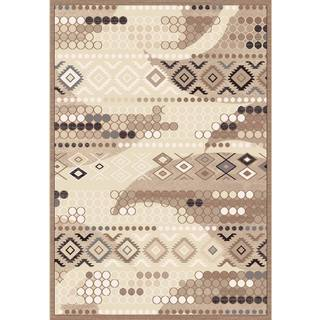 Couture Beige Tribal Area Rug (5'3 x 7'7)