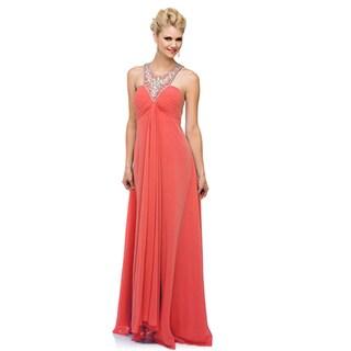 DFI Women's Evening Gown Halter Dress