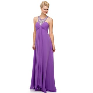 DFI Women's Evening Gown Halter Dress