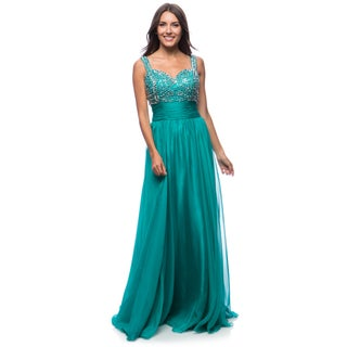 DFI Women's Evening Gown Metallic Beading (More options available)