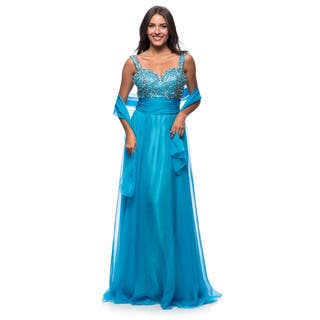 DFI Women's Evening Gown Metallic Beading (Option: Xs)|https://ak1.ostkcdn.com/images/products/10539020/P17620117.jpg?impolicy=medium