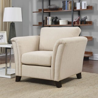 Furniture of America Tuct Contemporary Fabric Padded Armchair