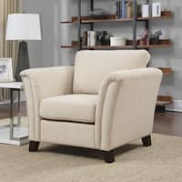 Furniture of America Vellaire Contemporary Upholstered Arm Chair