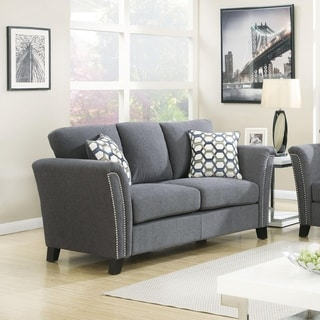 Furniture of America Vellaire Contemporary Upholstered Loveseat