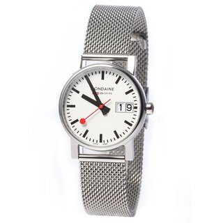 Mondaine Simply Elegant Stainless Steel Mesh Watch