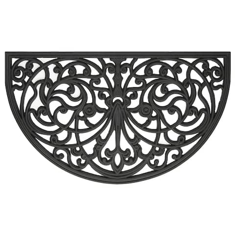 "Achim Wrought Iron Rubber Door Mat (18"" x 30"")"