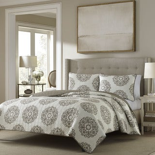 Stone Cottage Medallion Reversible Quilt Set
