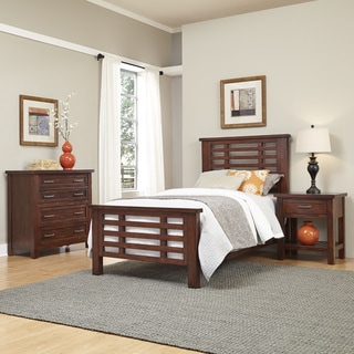 Home Styles Cabin Creek Twin Bed, Night Stand, and Chest