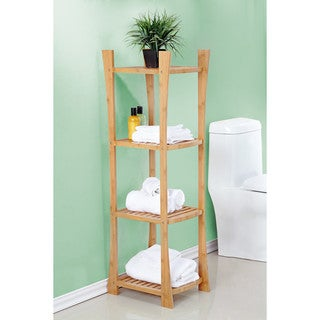 Best Living Bamboo Bath 4-Tier Towel Shelf