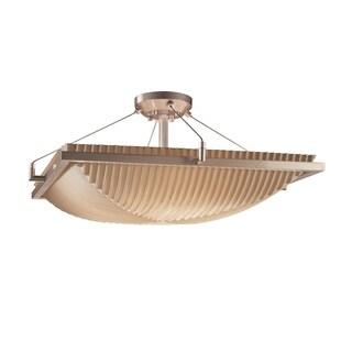 Justice Design Group Porcelina Ring 3-light Semi-Flush, Pleats