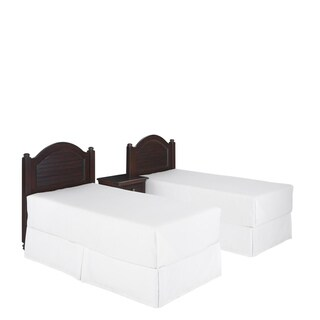 Home Styles Bermuda Two Twin Headboards and Night Stand