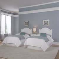 Bermuda Two Twin Headboards and Night Stand by Home Styles