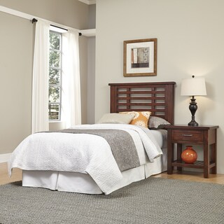 Cabin Creek Twin Headboard and Night Stand by Home Styles