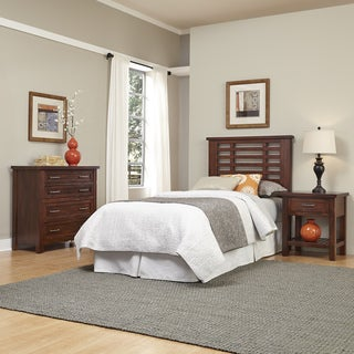 Home Styles Cabin Creek Twin Headboard, Night Stand, and Chest