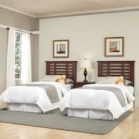 Cabin Creek Two Twin Headboards and Night Stand by Home Styles