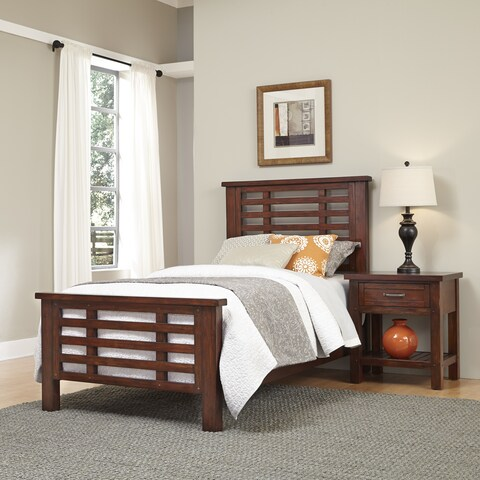 Cabin Creek Twin Bed and Night Stand by Home Styles