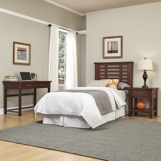 Home Styles Cabin Creek Twin Headboard, Night Stand, and Student Desk