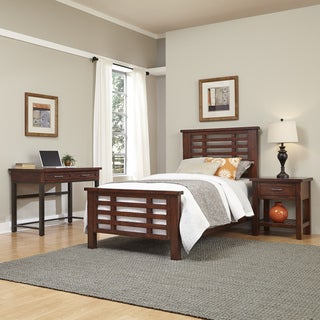 Home Styles Cabin Creek Twin Bed, Night Stand, and Student Desk