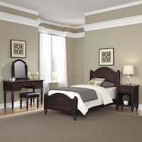 Bermuda Twin Bed, Night Stand, Vanity with Bench by Home Styles
