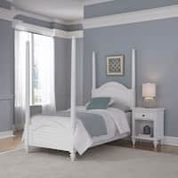 Bermuda Twin Poster Bed and Night Stand by Home Styles