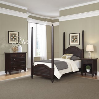 Bermuda Twin Poster Bed, Night Stand, and Chest by Home Styles
