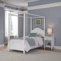 Bermuda Twin Canopy Bed and Night Stand by Home Styles