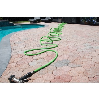 Plastic/Synthetic Fiber 25- to 100-foot Tangle-free Expandable Garden Hose