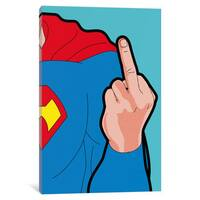Super-Finger Canvas Wall Art